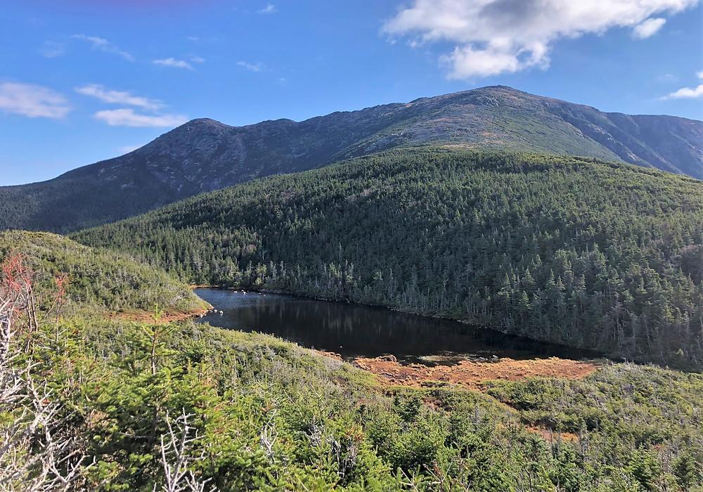 Eagle Lake on Greenleaf trail to Mt Lafayette summit.