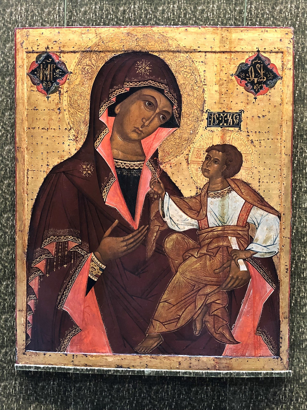 The Russian icon 'The Jerusalem Mother of God' in Timken Museum of Art in San Diego Balboa Park