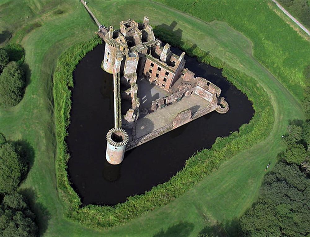 Caerlaverock Castle in Southern Scotland