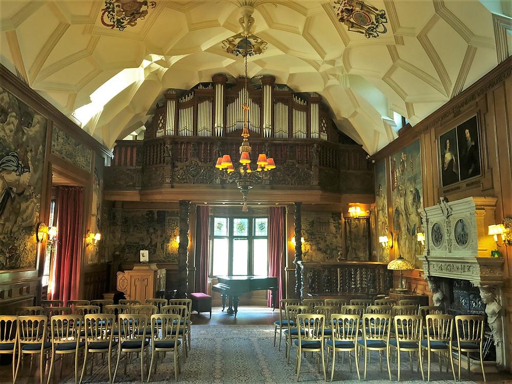 Gallery room in Fyvie Castle in Aberdeenshire, Scotland