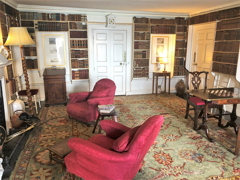 The library in St Michael's Mount castle built around 1780 was originally part of the 12th century monastic buildings