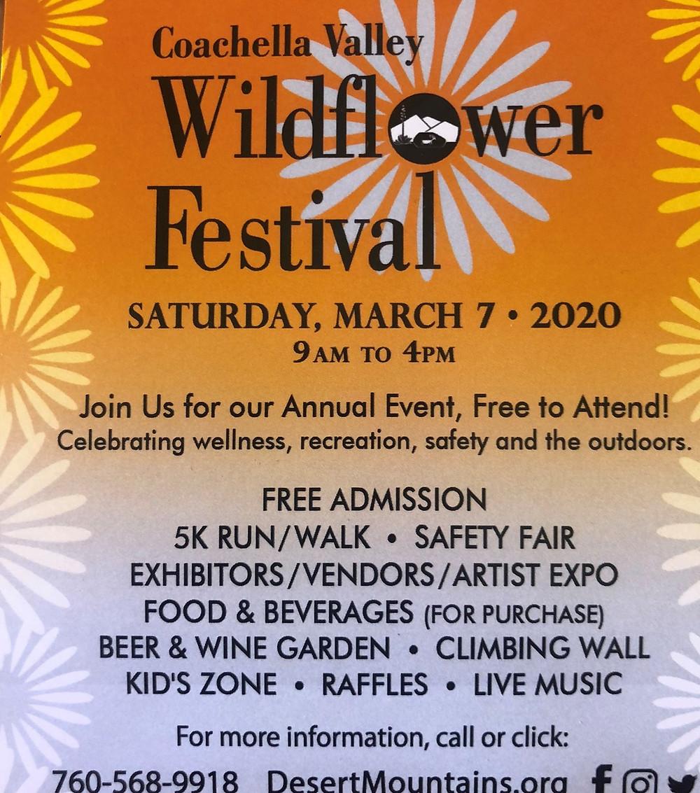 Wildflower Festival in Palm Desert 2020