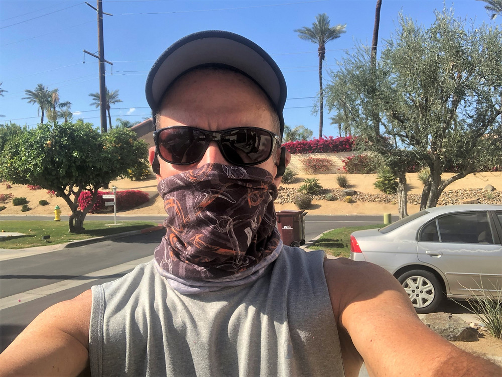 Jogging during COVID pandemic in Palm Desert
