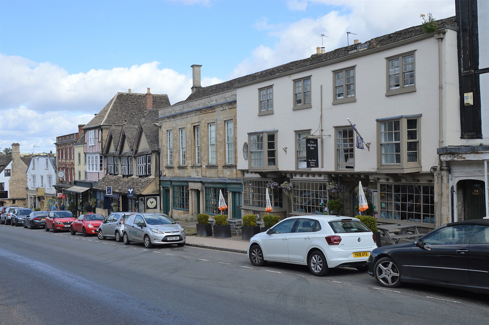 Main street shops in Burford of the Cotswolds