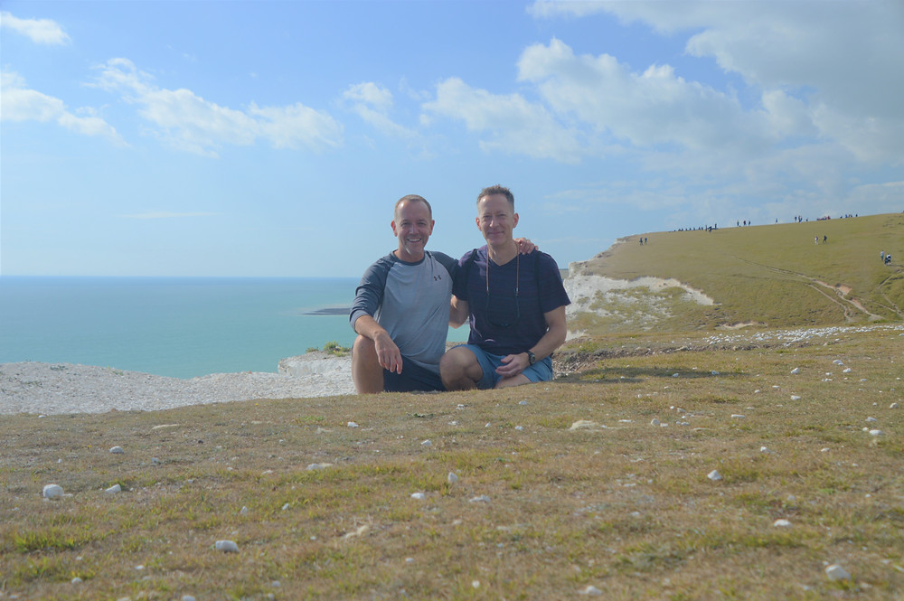 Seven Sisters Cliffs in England. Amazing white cliff along England coast