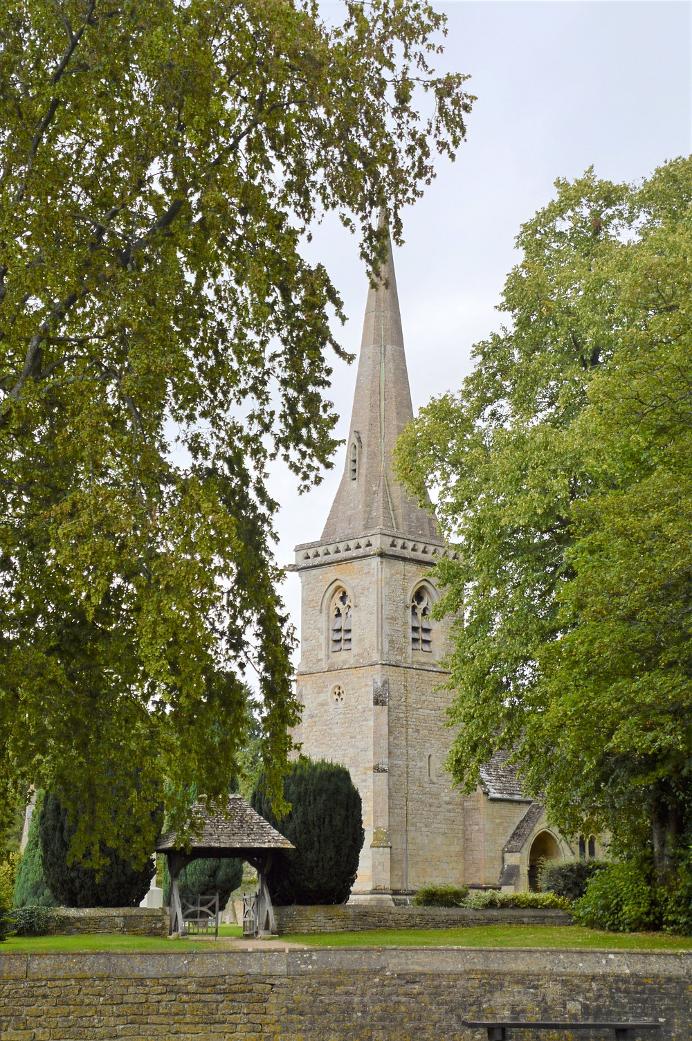 Church of St. Mary in Lower Slaughter of the Cotswolds