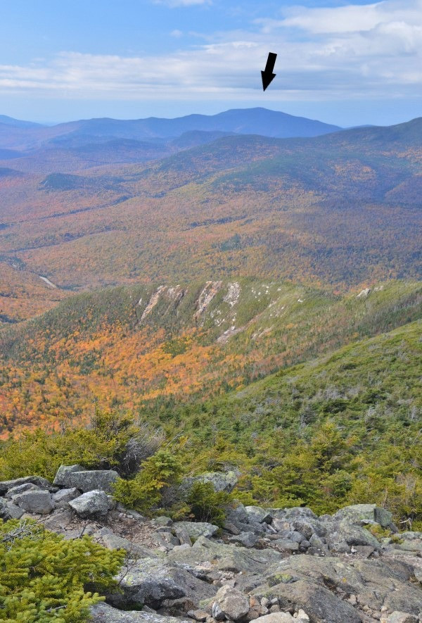 View of Mt Moosilauke from Mt Lafayette