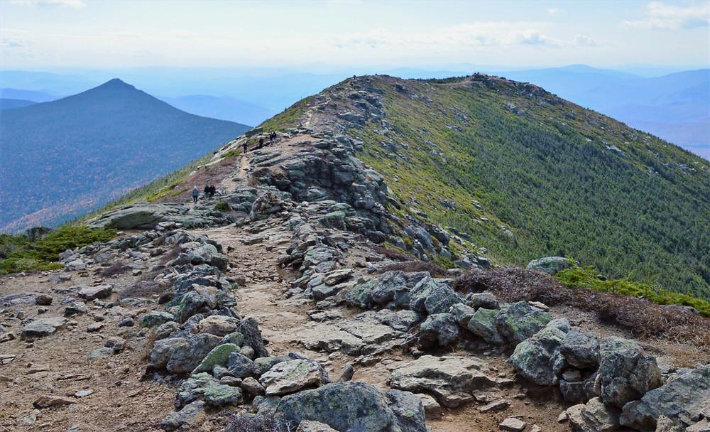 Franconia Ridge Loop Trail heading to Little Haystack Mountain.