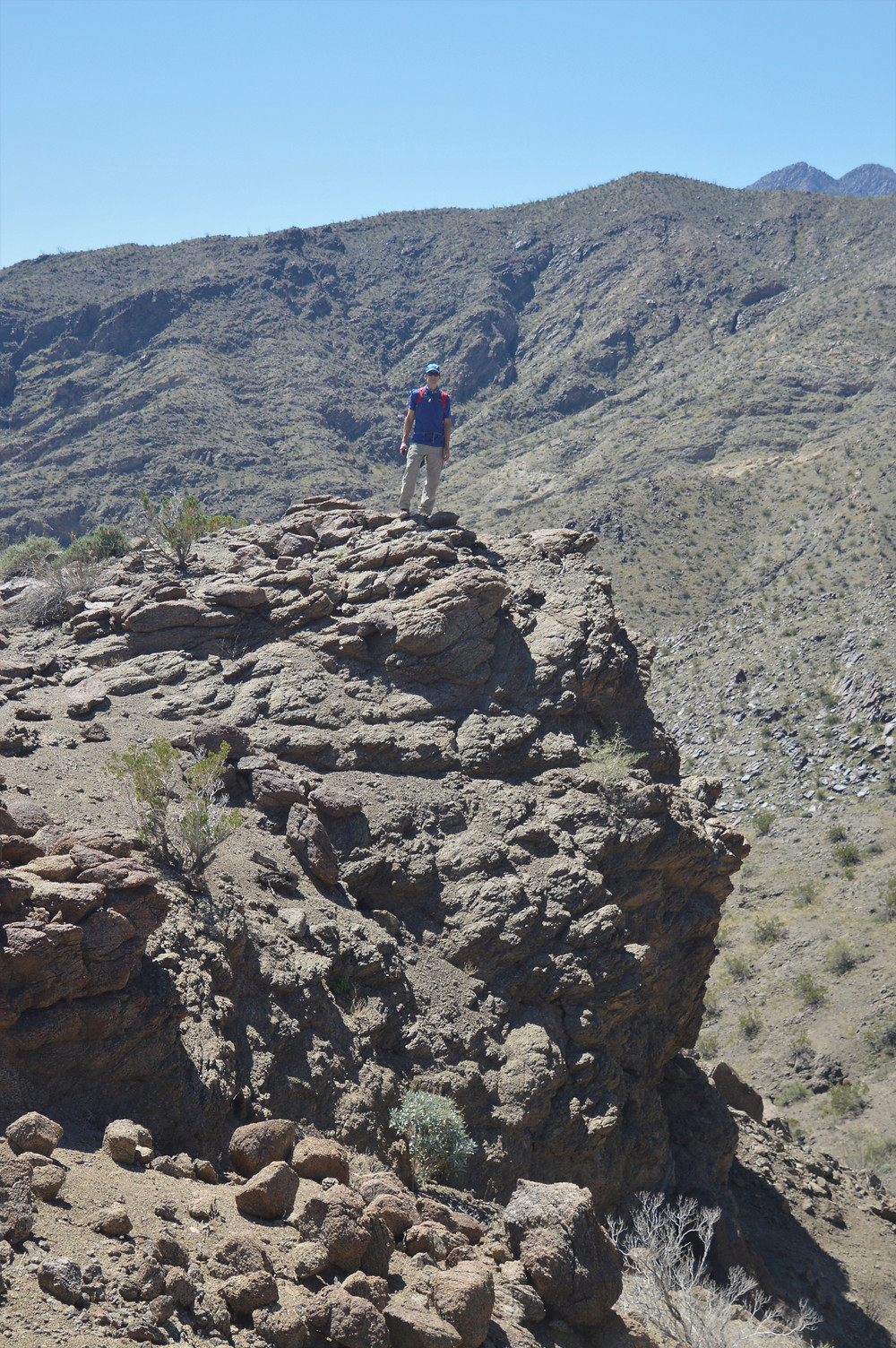 Rock outcropping along Boo Hoof Trail heading to Lost Canyon
