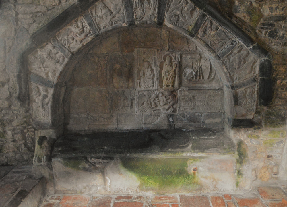 1547 tomb of Alasdair 'Crotach' MacLeod in St. Clement's Church in the village of Rodel on Lewis and Harris in the Outer Hebrides