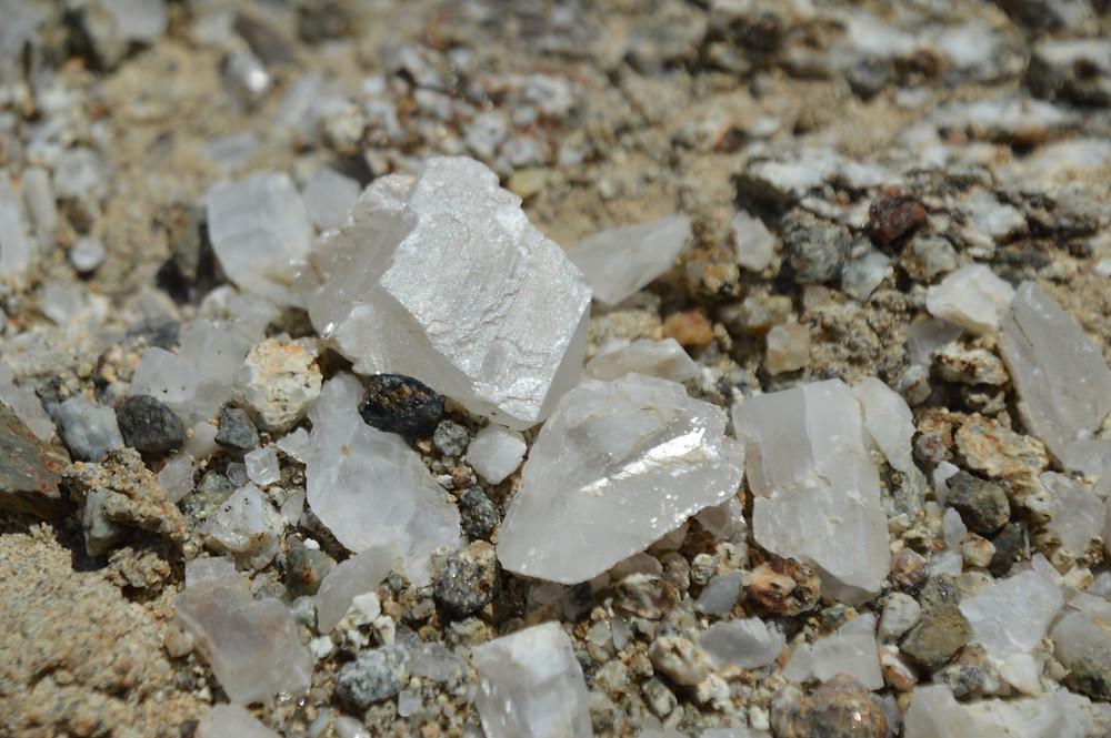 Small calcite crystals found in the Calcite Mine area of Anza-Borrego State Park