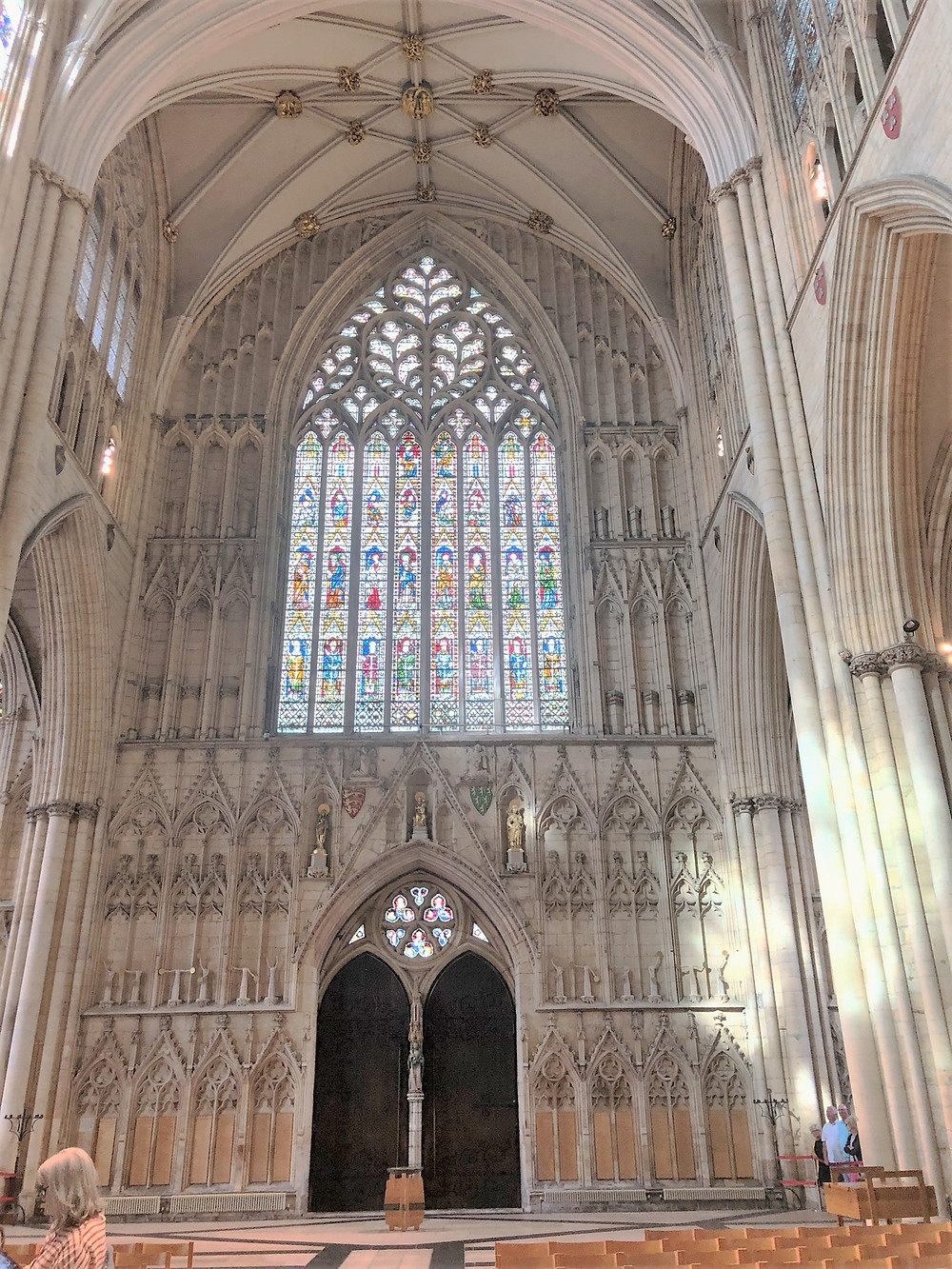 The York Minster main entrance and Great West Window completed in 1340