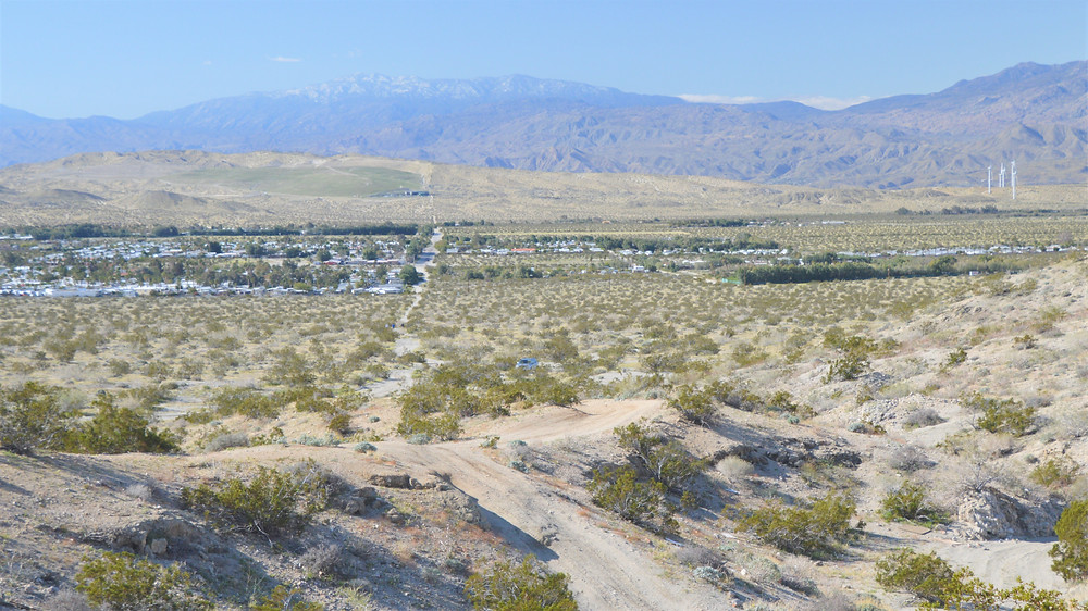 Santa Rosa Mountains from Chocolate Drop Trail in Desert Hot Springs