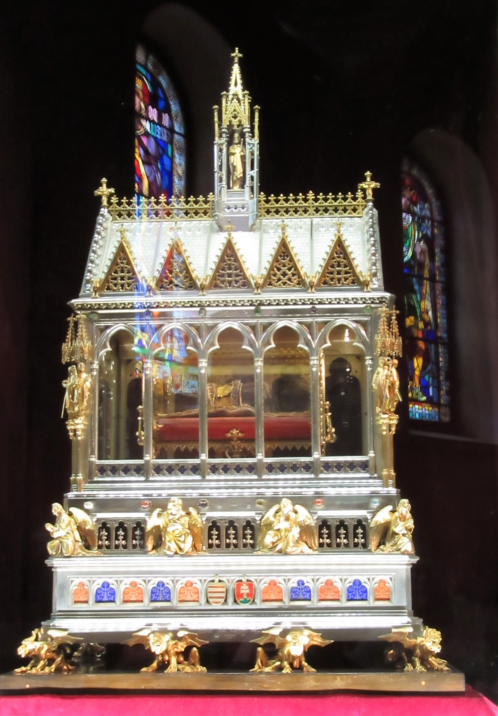 On display in St Stephen's Basilica is the mummified hand of St Stephen