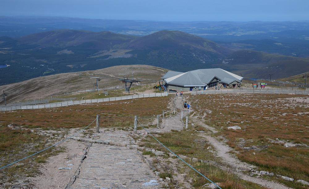 Ski chairlift on the path leading from the summit of Cairn Gorms