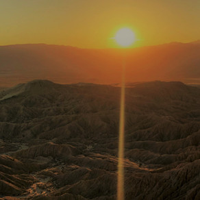 Anza-Borrego State Park: Font's Point Sunset:  Feb 2019
