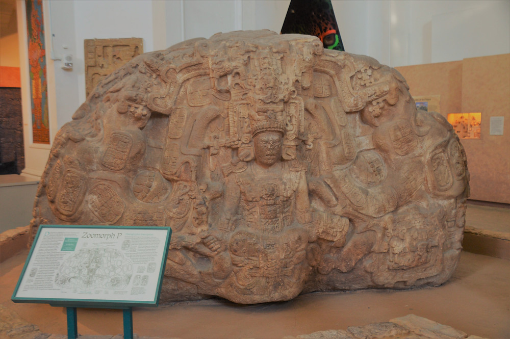 Casts of the original monuments that were found in Quirigua, Guatemala from the Museum of Man in San Diego