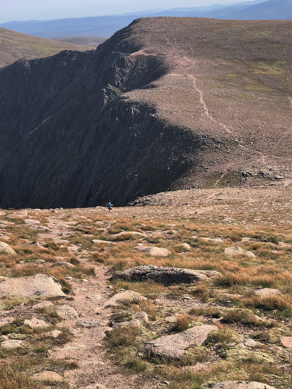 Approaching the climb up Stob Coire an t-Sneachda on the Cairn Gorm hike via the Northern Corries