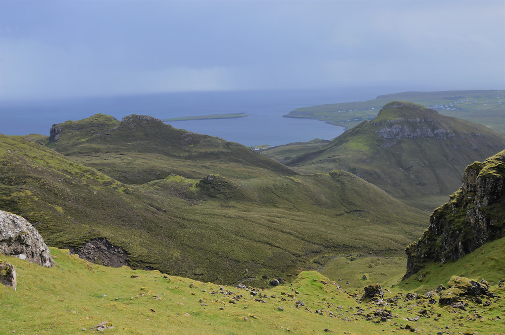 Staffin Bay from the Quiraing trail on the Isle of Skye
