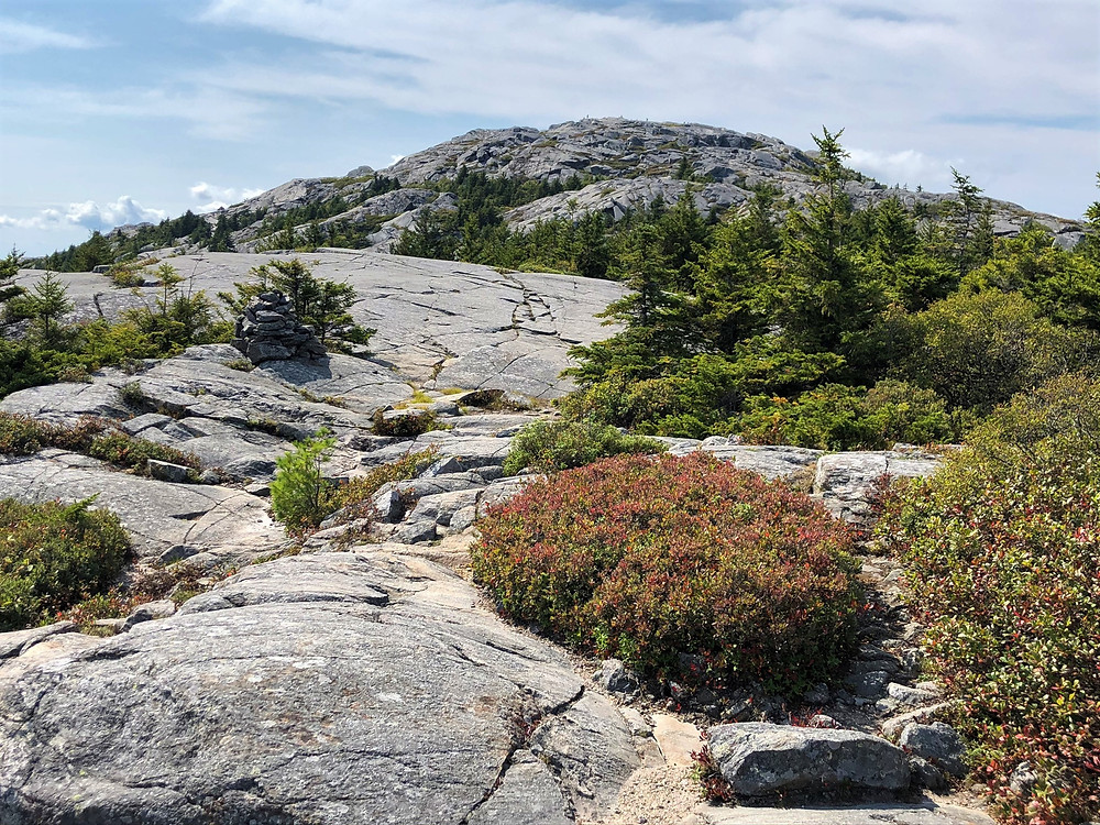 Pumpelly Trail rocky slab on way to Mount Monadnock summit