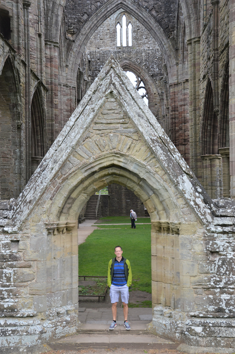 Remains of the north entrance to Tintern Abbey in South Wales