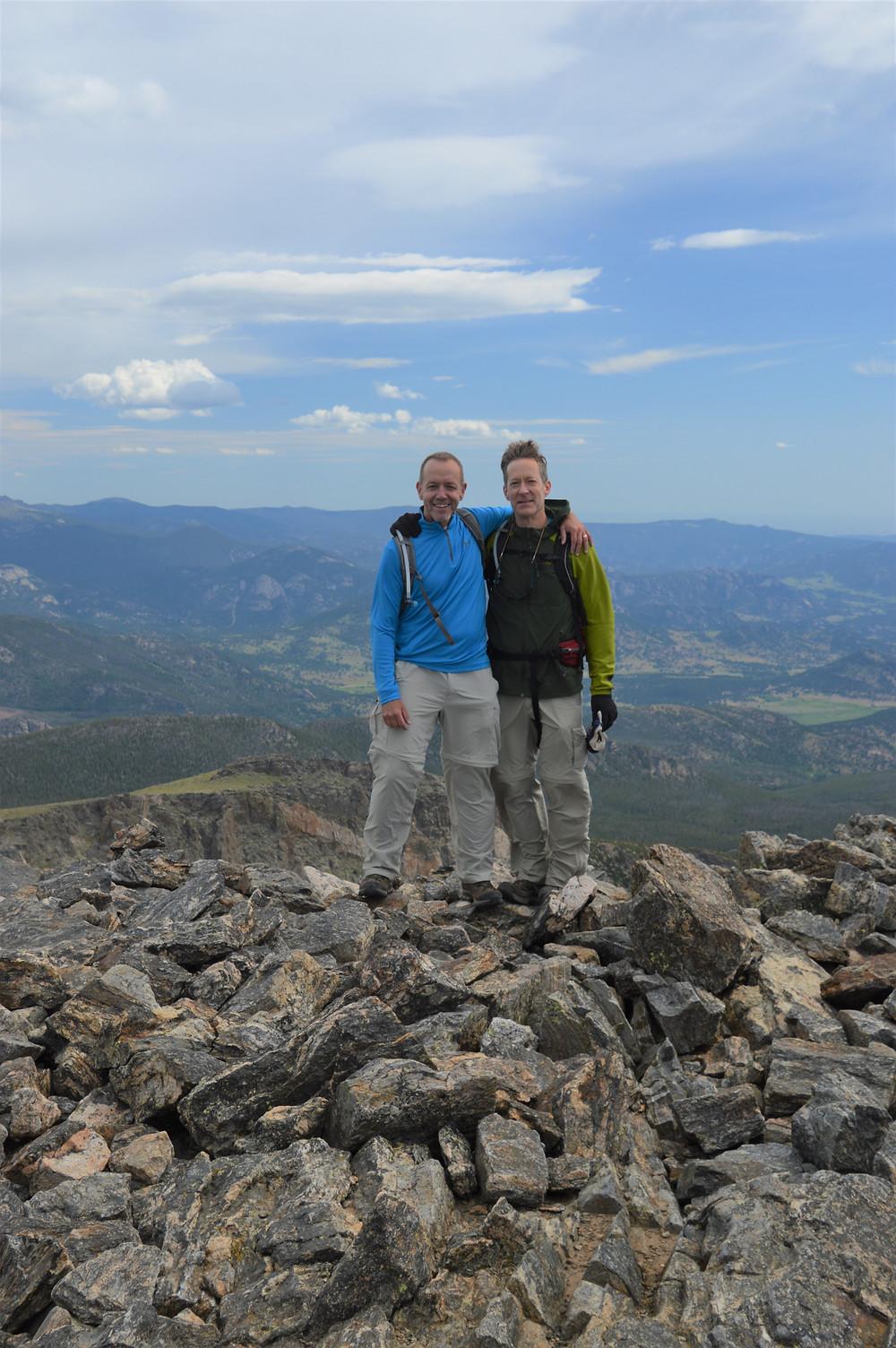 At the 12,713 foot summit of Hallett Peak in Rocky Mountain National Park