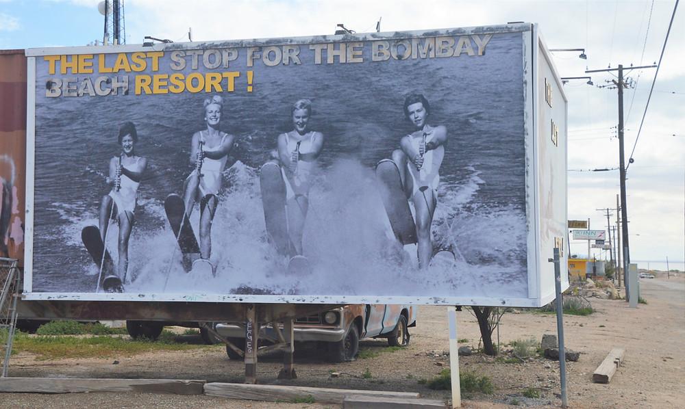 Bombay beach sign at Salton Sea
