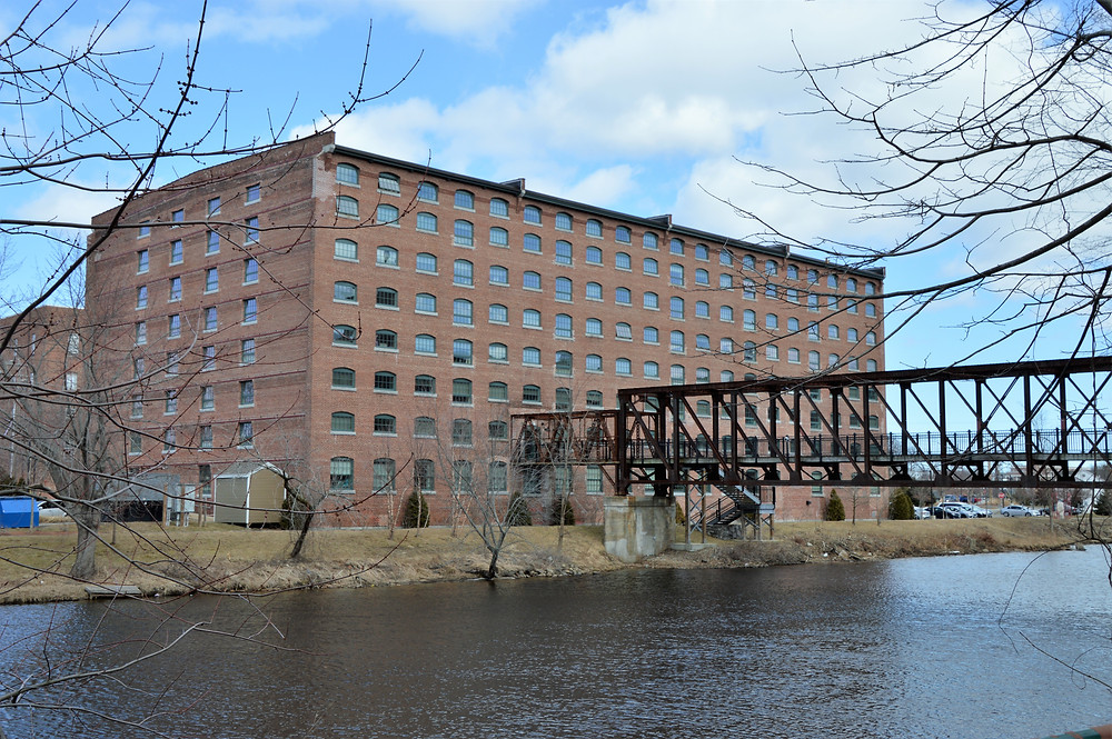 Nashua Manufacturing Co South Cotton Storehouse and the Warren Truss Bridge built in 1902