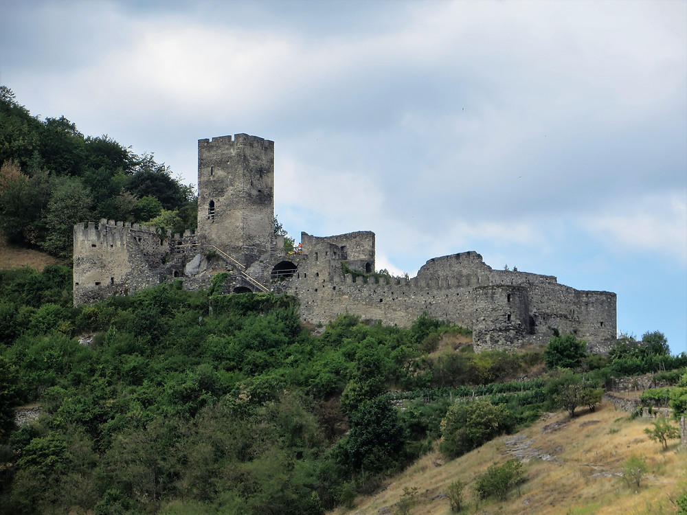 The Castle of Hinterhaus near Spitz dates back to the 12th century.  Danube River cruise from Krems to Melk