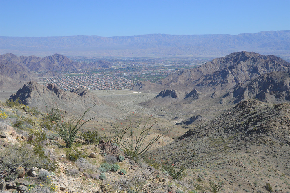Flat and uniform crestline of Little San Bernardino Mountains