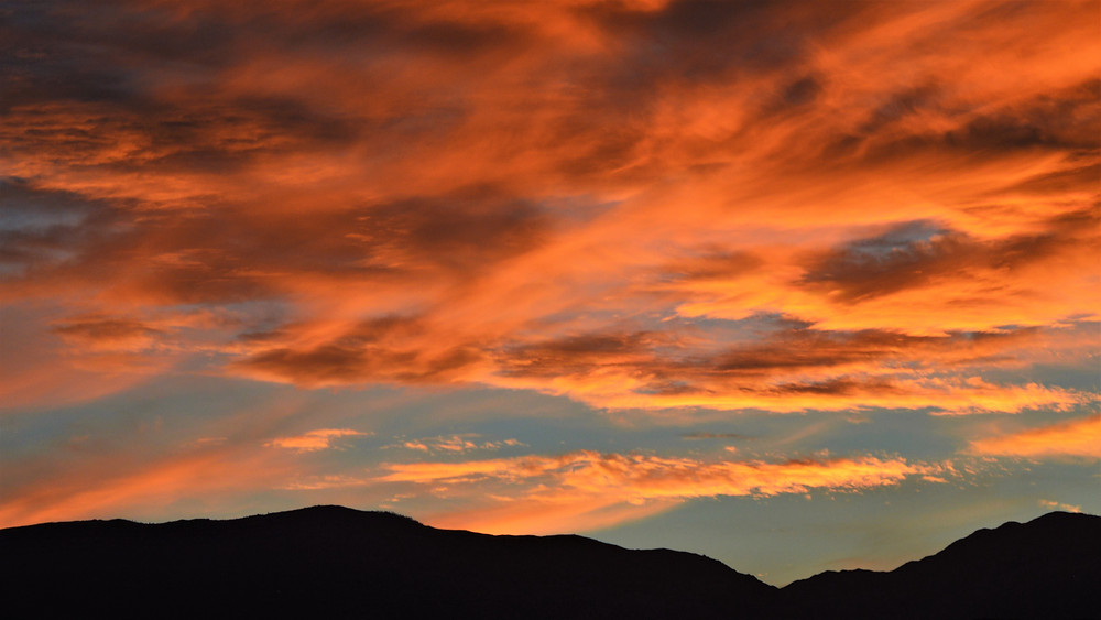Sunset over the San Jacinto Mountains viewed from Palm Desert