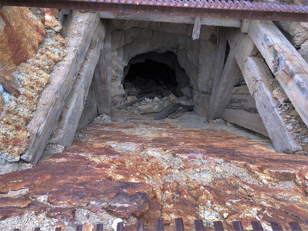 Opening of abandoned Mastadon Gold Mine at Joshua Tree National Park
