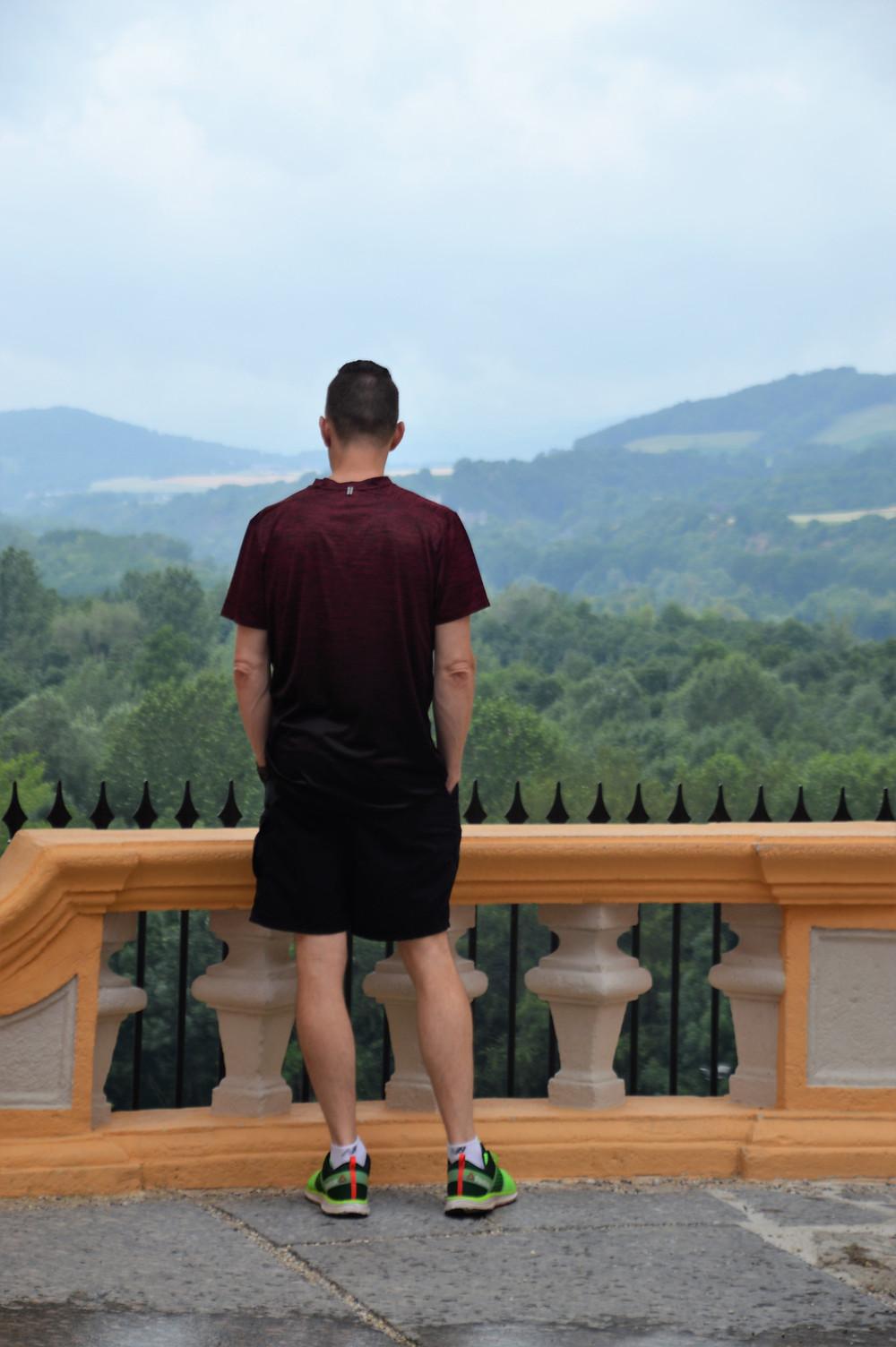 Looking over valleys surrounding Melk Abbey in Austria