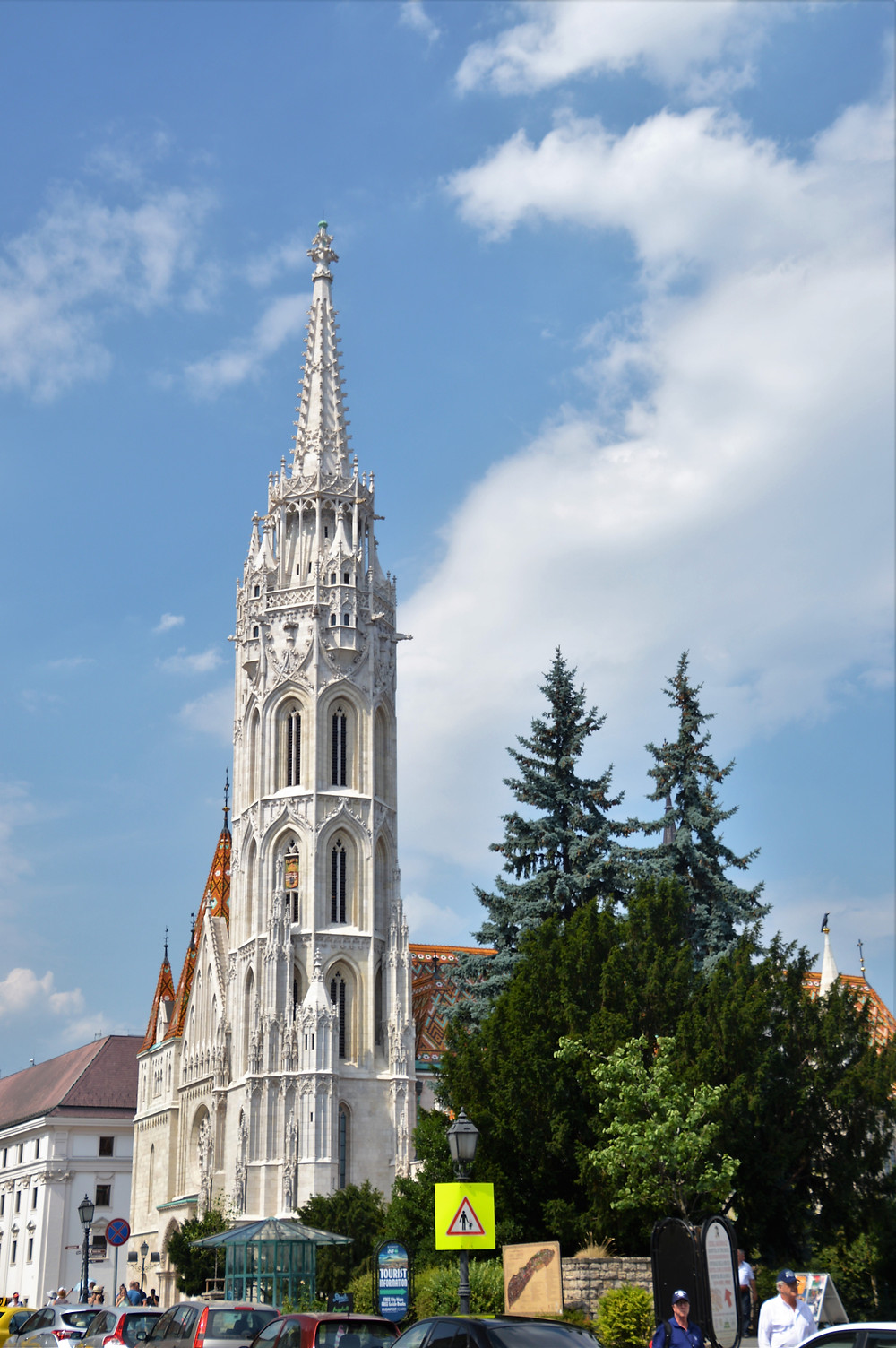 The southwest bell tower of Matthias Church built by King Matthias Corvinus collapsed in 1384 and was rebuilt in 1470