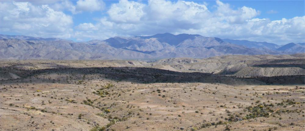 Little San Bernardino Mountains from Pushawalla Palm trail in the Indio Hills