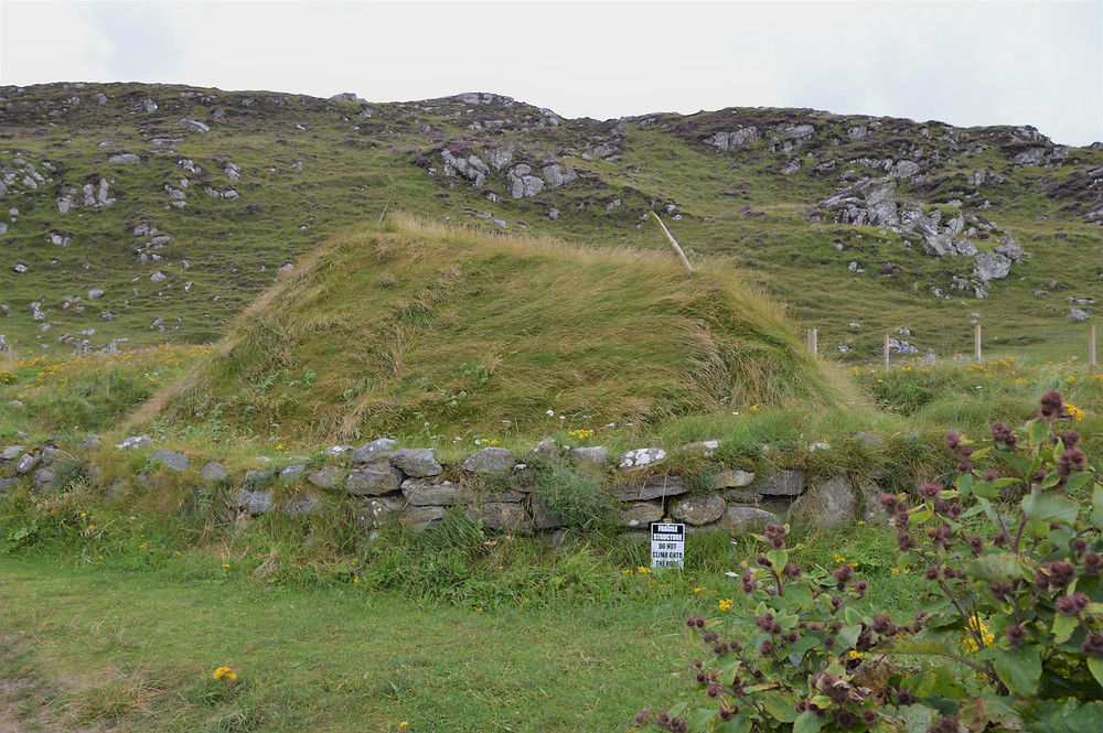 Hiking the Great Bernera Loop trail to Traigh Bostadh and the Bostadh Iron Age house dating back to 500-700 AD.