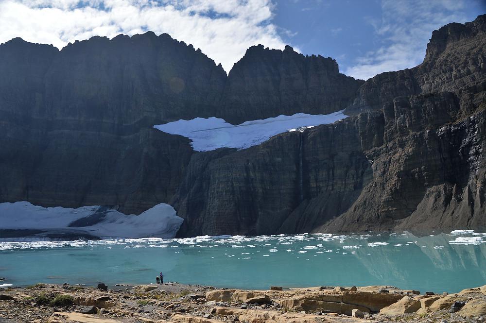 upper grinnell lake, glacier national park