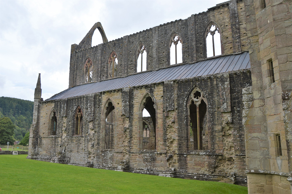 Ruins of the Tintern Abbey remain standing.