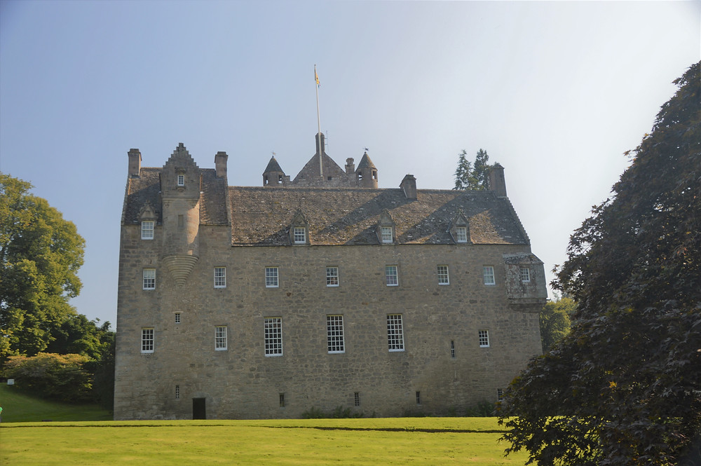 the three-story high 16th century building in Cawdor Castle was rebuilt for Sir Hugh Campbell in the late 17th century