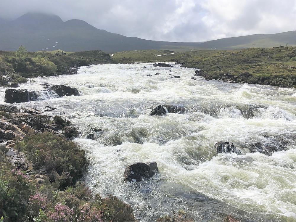 Mountain fed water running beneath the Sligacman Bridge in Skye