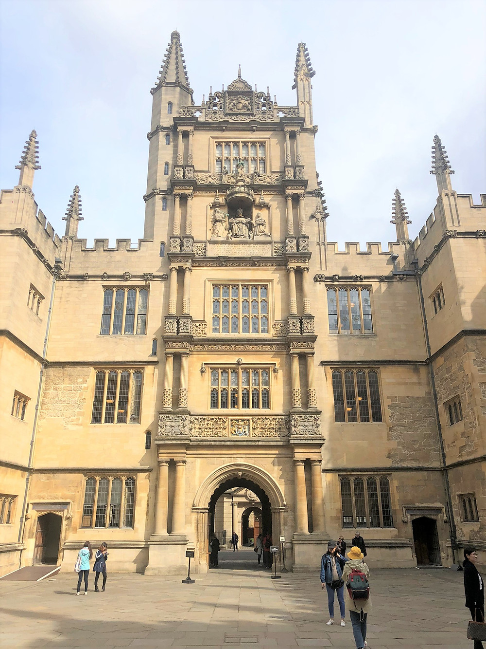 Bodleian Library founded in 1598 is the main research library of the University of Oxford in England