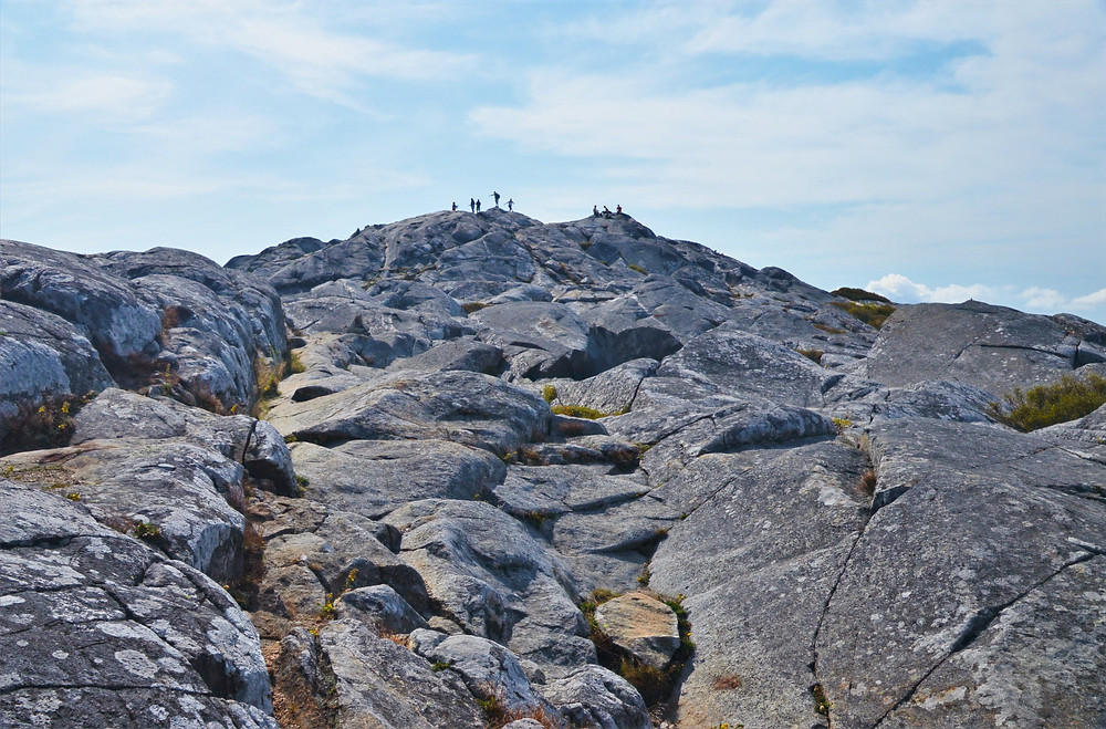 People on Mount Monadnock summit