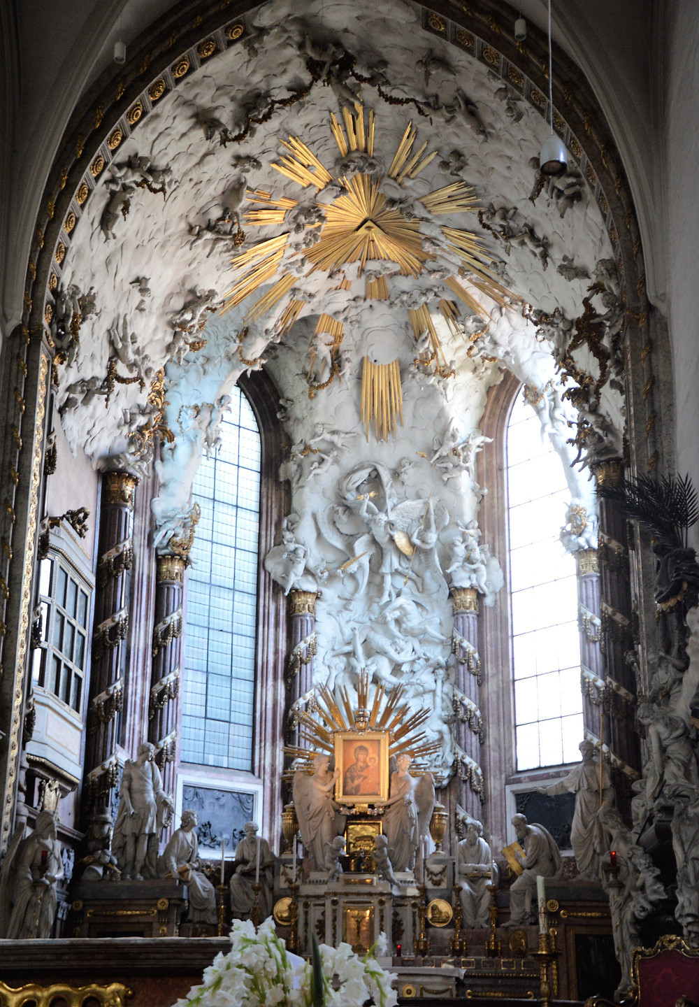 The centerpiece of St Michael's Church in Vienna is Maria Candia, a Byzantine icon of the Virgin Mary in the High Altar