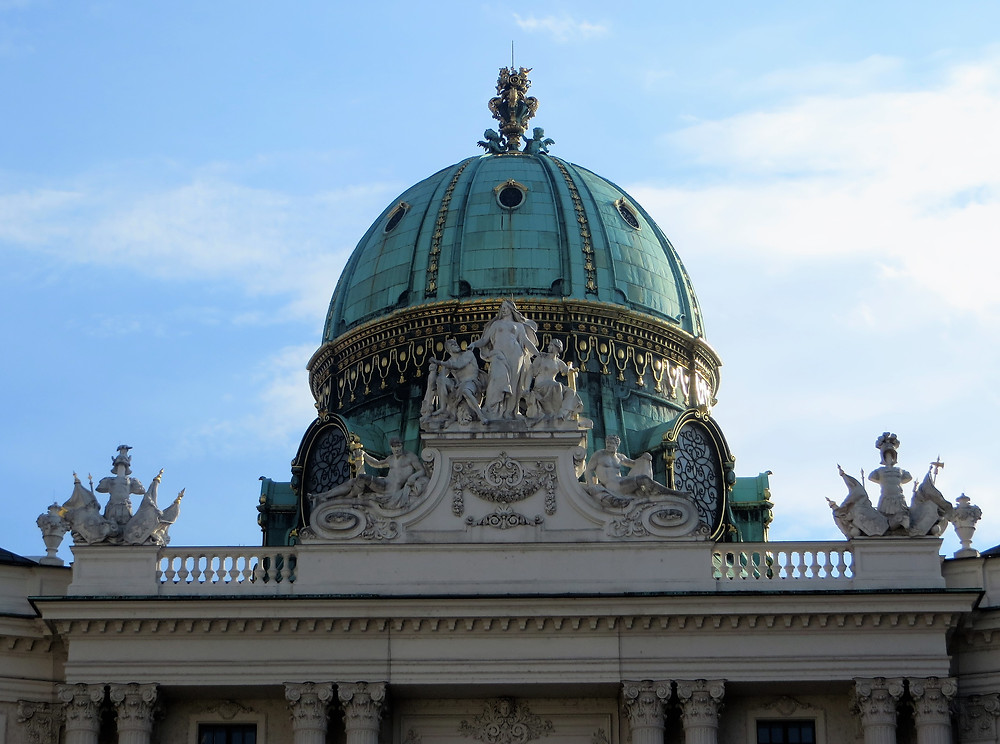 Copper dome of the St Michaels Wing of the Imperial Hofburg Palace