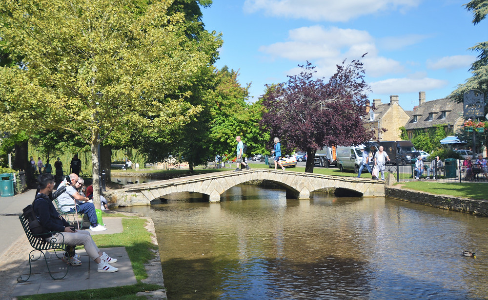 Burton-on-the-Water bridge over the River Windrush in Cotswolds