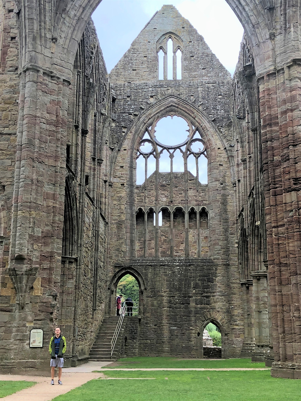 Soaring height of the north transept of Tintern Abbey in Southern Wales
