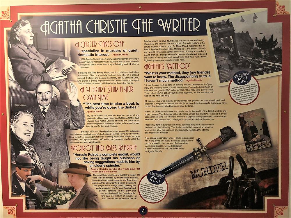 Agatha Christie exhibit in the Torquay Museum