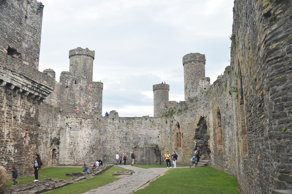 The wall that separated the Outer Ward from the Royal Inner Ward in Conwy Castle bult by Edward I