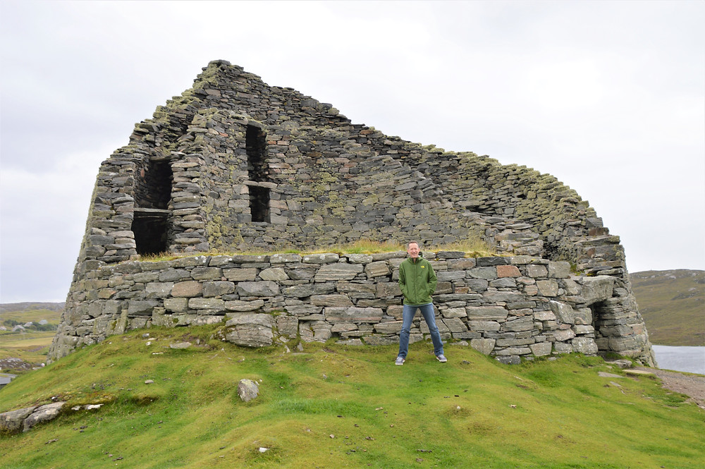 Circular construction of Dun Carloway Broch on Lewis and Harris in the Outer Hebrides