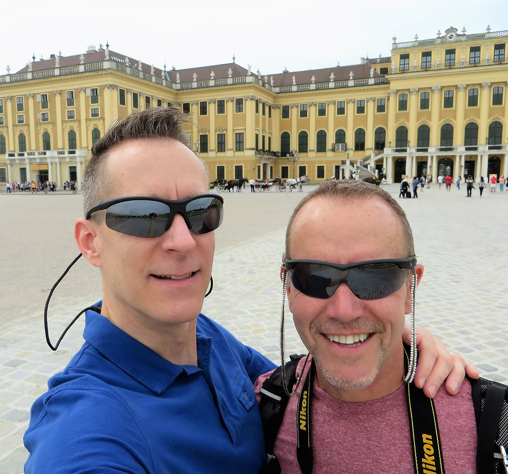On the grounds of the Schonbrunn Palace on Vienna